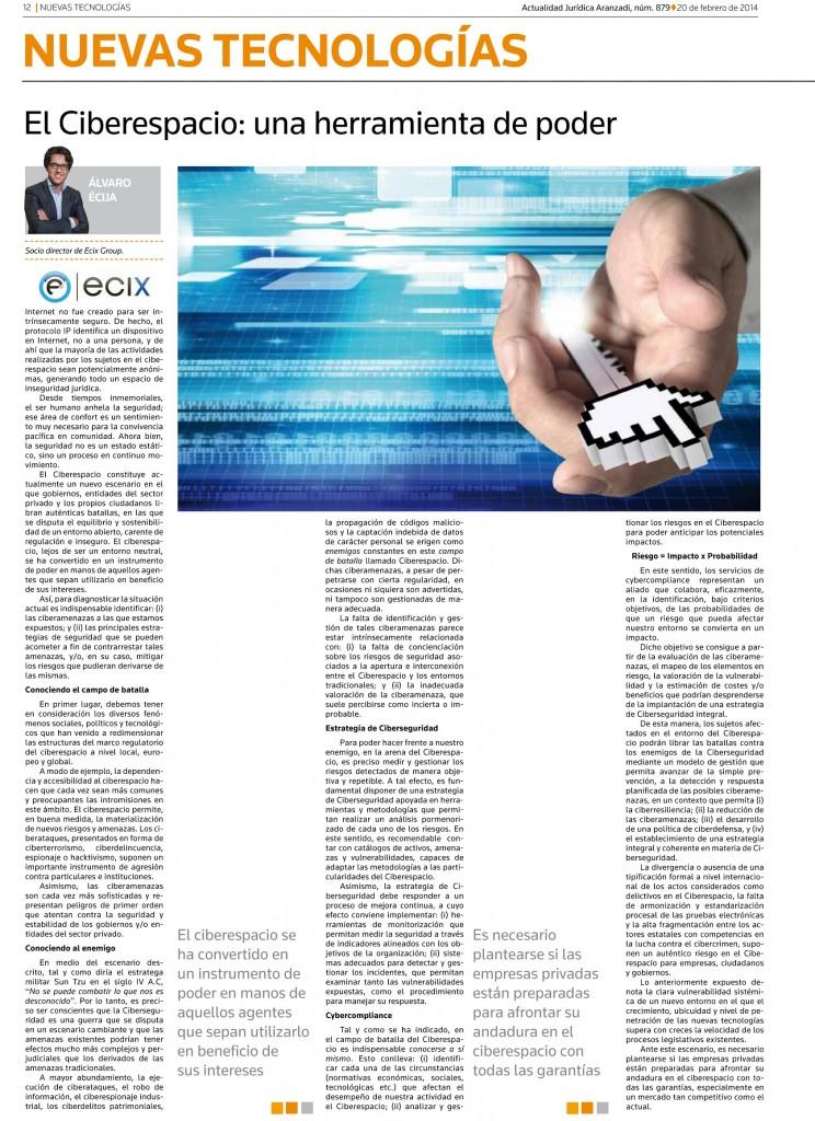 Artículo de Álvaro Écija, Managing Partner de Ecix Group, en AJA.